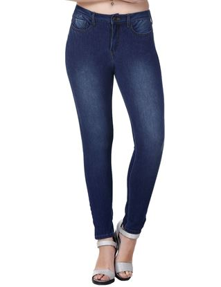Picture of Frenchtrendz Cotton Viscose Spandex Shape Style Indigo Wash Jeans